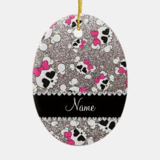 Arcos conocidos de encargo del rosa de los cráneos ornamentos de navidad
