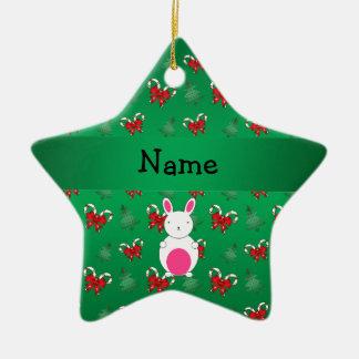 Arcos conocidos personalizados de los bastones de adorno navideño de cerámica en forma de estrella