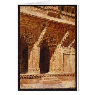 Arcos curiosamente labrados de la piedra arenisca tarjeta de felicitación