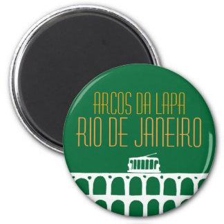 Arcos DA Lapa - el Brasil Imán Redondo 5 Cm