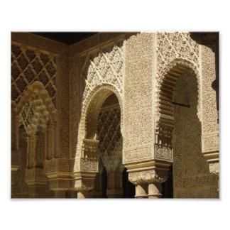 Arcos de Alhambra - impresión de la foto Fotografías