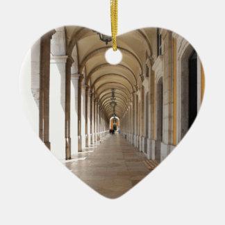 Arcos de Lisboa Adorno Navideño De Cerámica En Forma De Corazón