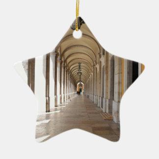 Arcos de Lisboa Adorno Navideño De Cerámica En Forma De Estrella