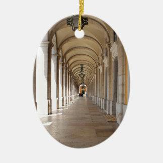 Arcos de Lisboa Adorno Navideño Ovalado De Cerámica