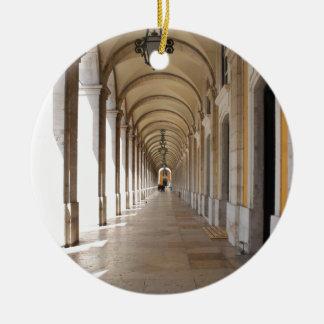 Arcos de Lisboa Adorno Navideño Redondo De Cerámica
