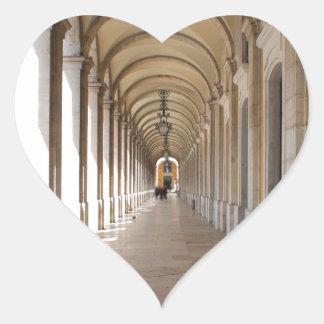 Arcos de Lisboa Pegatina En Forma De Corazón