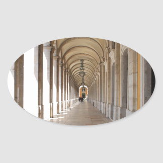 Arcos de Lisboa Pegatina Ovalada