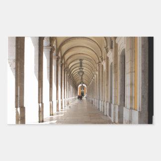 Arcos de Lisboa Pegatina Rectangular