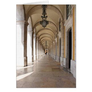 Arcos de Lisboa Tarjeta De Felicitación
