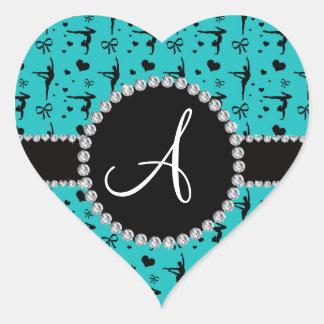 Arcos de los corazones de la gimnasia de la pegatina en forma de corazón