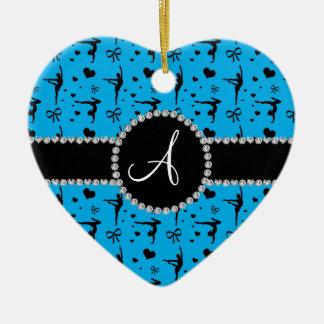 Arcos de los corazones de la gimnasia del azul de ornamento para arbol de navidad