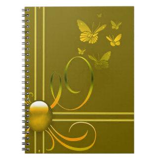 Arcos de mariposa spiral notebook