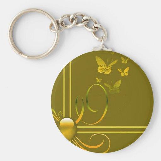 Arcos de mariposa llaveros personalizados