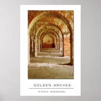 Arcos de oro poster
