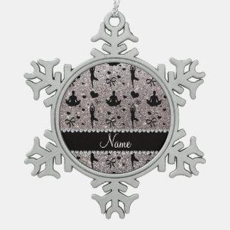 Arcos de plata conocidos de encargo de los adorno de peltre en forma de copo de nieve