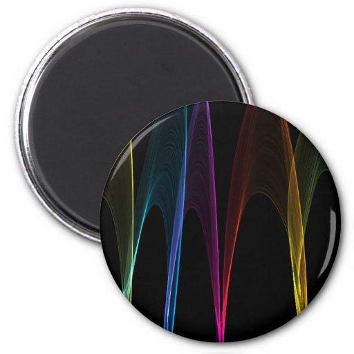 Arcos del arco iris imanes para frigoríficos