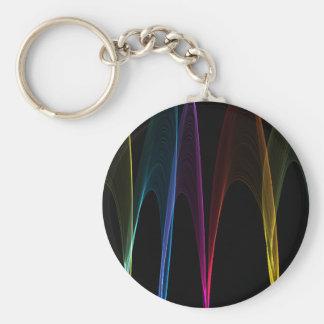 Arcos del arco iris llavero redondo tipo pin