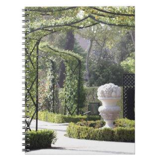 Arcos del jardín EL Retiro Madrid España Libro De Apuntes