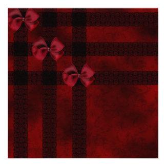 Arcos del rojo y boda negro del gótico del cordón comunicados personalizados