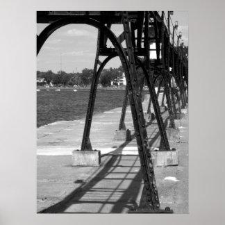 Arcos en el asilo magnífico Michigan Impresiones