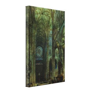 Arcos esmeralda impresión en tela