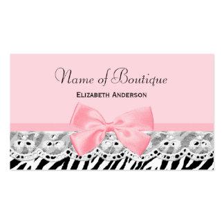 Arcos femeninos del rosa y boutique del estampado tarjetas de visita