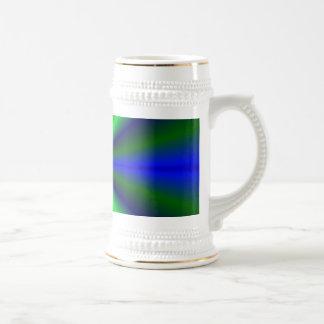 arcos iris azules verdes jarra de cerveza
