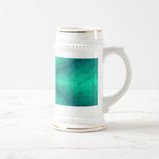 Arcos iris verdes en elefante skin cuero óptica jarra de cerveza
