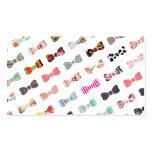 Arcos lindos de los modelos coloridos femeninos de plantilla de tarjeta personal