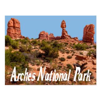 Arcos parque nacional, postal de Moab Utah