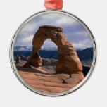 Arcos parque nacional, Utah Adorno Navideño Redondo De Metal
