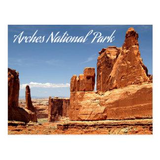 Arcos parque nacional, Utah - Estados Unidos Tarjetas Postales