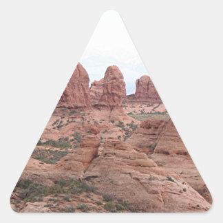 Arcos parque nacional, Utah, los E.E.U.U. 12 Pegatina Triangular
