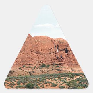 Arcos parque nacional, Utah, los E.E.U.U. 14 Pegatina Triangular