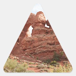 Arcos parque nacional, Utah, los E.E.U.U. 16 Pegatina Triangular
