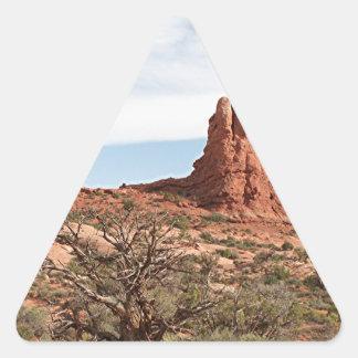 Arcos parque nacional, Utah, los E.E.U.U. 20 Pegatina Triangular
