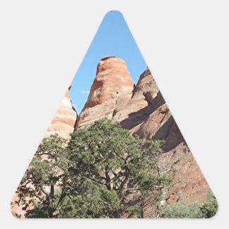 Arcos parque nacional, Utah, los E.E.U.U. 4 Pegatina Triangular