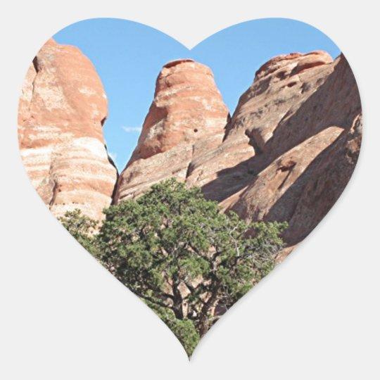 Arcos parque nacional, Utah, los E.E.U.U. 4 Pegatina En Forma De Corazón