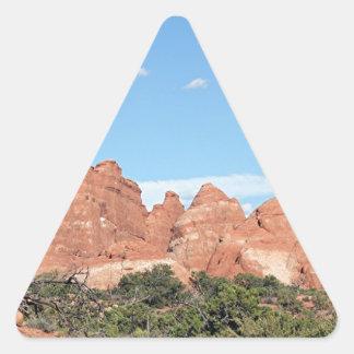 Arcos parque nacional, Utah, los E.E.U.U. 8 Pegatina Triangular
