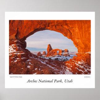 Arcos parque nacional, Utah Póster