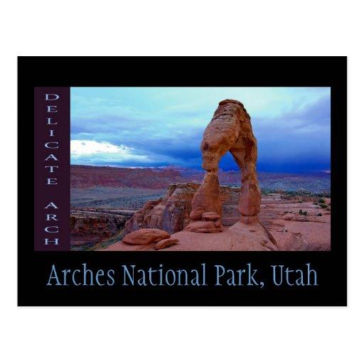 Arcos parque nacional, Utah Tarjeta Postal