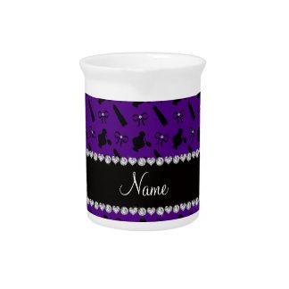 Arcos púrpuras conocidos personalizados del lápiz jarra para bebida