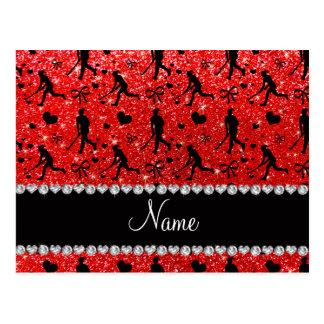 Arcos rojos de neón conocidos de los corazones del tarjetas postales