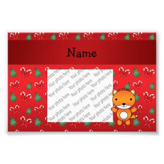 Arcos rojos personalizados del navidad del zorro fotografías