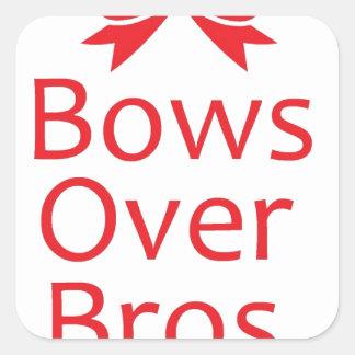 Arcos sobre Bros-Rojo Pegatina Cuadrada