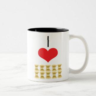 arcos taza de café de dos colores