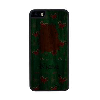 Arcos verdes conocidos personalizados de los funda de nogal carved® para iPhone 5