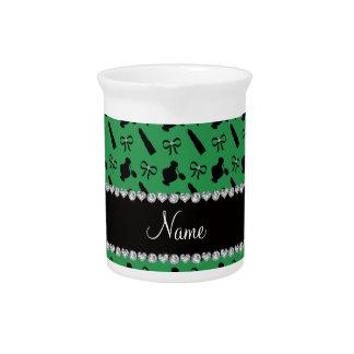 Arcos verdes conocidos personalizados del lápiz jarrón