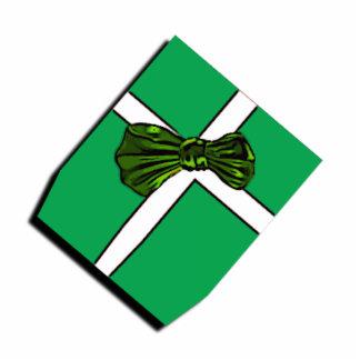 Arcos verdes de las cintas de los ornamentos del r esculturas fotográficas