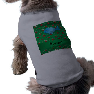 Arcos verdes narwhal conocidos personalizados de playera sin mangas para perro